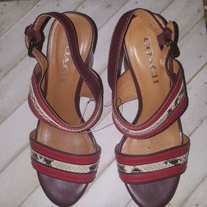 Coach Size 7 Strapy Heels